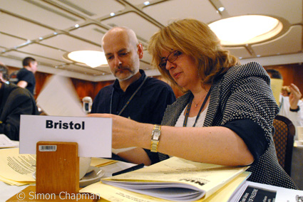 Picture of Bristol Branch delegates Paul Breeden and Christina Zaba