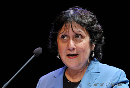 Yasmin Alibhai-Brown, journalist and columnist for the Independent, gives the 3rd annual Benn Lecture (All photos by Simon Chapman)
