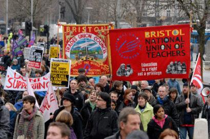 Many trades unions took part. (Photo © Simon Chapman)