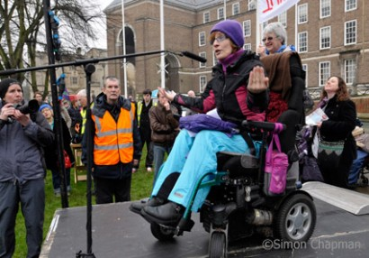 Laura Welti, manager of Bristol Disability Equality Forum. (Photo © Simon Chapman)