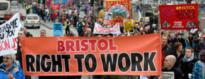 March against the public sector cuts; 19 February 2011. (Photo © Simon Chapman)