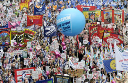 Hundreds of thousands of people; the Big Society.  (Photo © Simon Chapman)