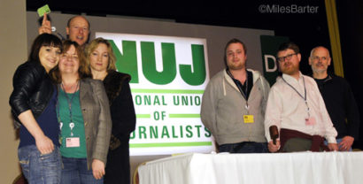 The Bristol gang at the NUJ Delegate Meeting 2011.  (Photo © Miles Barter)