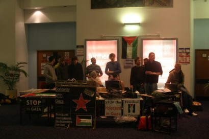 2009: Students occupy UWE in protest at Israel's attack on the Gaza Strip