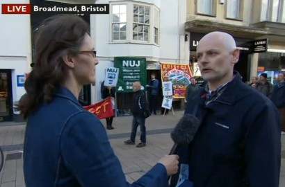 BBC Points West reporter Alice Bouverie interviews Paul Breeden