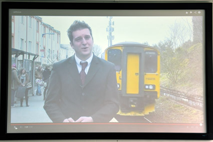 Chris Hanson, student prize winner, in his broadcast on Bristol transport.