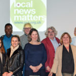 NUJ Bristol Branch and supporters at our Local News Matters event at Watershed; (Photo © Simon Chapman 2017)
